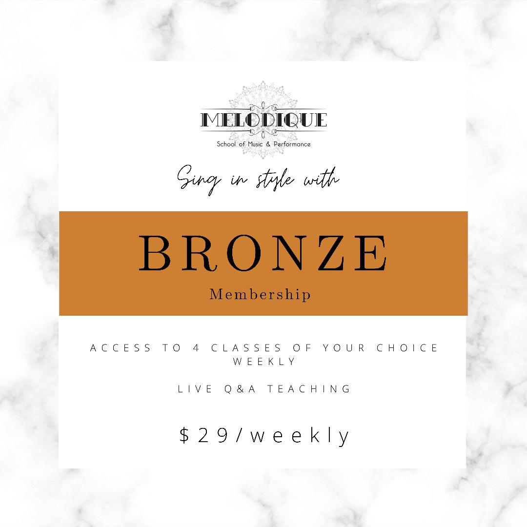 BRONZE Membership - $29/Week